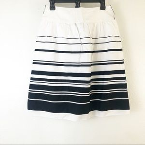 Ally B Black and White Striped Skirt Size 7